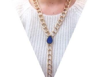 Druzy Gold Necklace