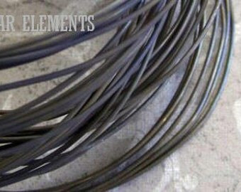 WIRE - 5 Feet 20ga Pure Brass Dead Soft - Hand Oxidized Wire