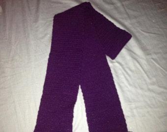 Purple Scarf with Sparkle Pompoms