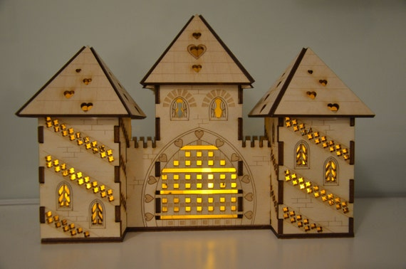 Unique laser cut princess castle nightlight