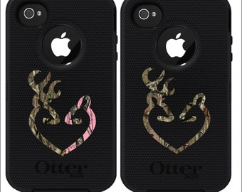 Browning style camo and pink camo love heart shaped deer buck - Browning deer cell phone wallpaper ...