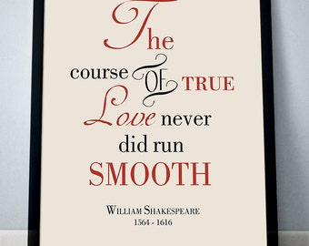 the course of true love never did run smooth essay William shakespeare — 'the course of true love never did run smooth'.