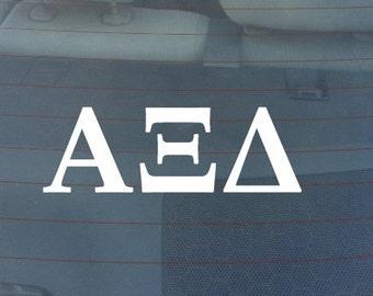 "Alpha XI Delta Sorority Sticker Window Laptop Car Decal Vinyl Ipad Iphone 3"" 6"" 8"""