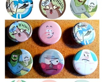 Regular Show Button Set