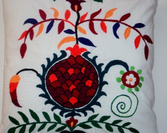 Suzani pillow case hand embroidered