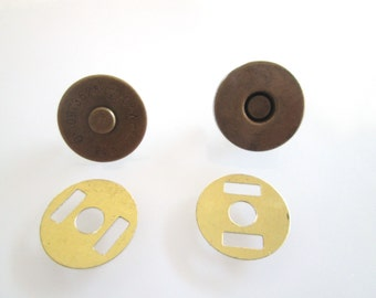 5 Sets 14mm anti brass Magnetic Fastener Magnetic Snaps Magnetic Button