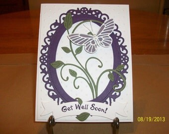 Floral and Butterfly Get Well Soon Card