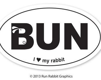 BUN bumper sticker
