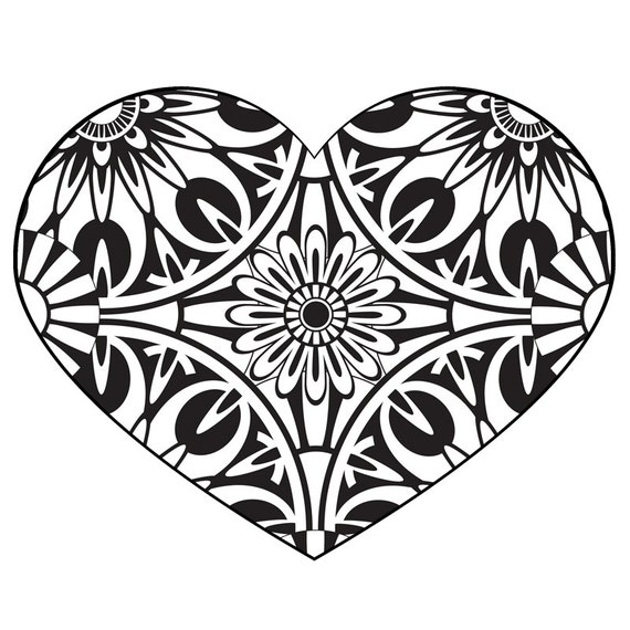 It is a photo of Nifty Adult Coloring Pages Hearts
