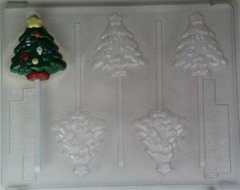 Medium-small Christmas tree w/ ornaments & star on top C081