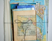 Map Themed Paper Pack, ephemera