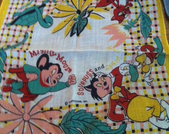 Vintage Mighty Mouse Handkerchief