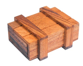 Magic Lock Box Wooden Brainteaser/Puzzle