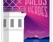 5x7 Greeting Card - Palos Verdes California - Point Vicente Lighthouse