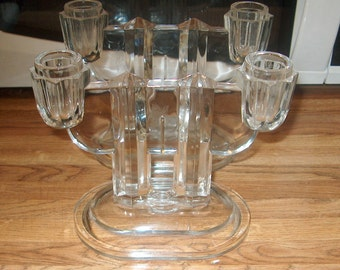 Antique Vintage Glass Art Deco Candle Holders with Pontil, WAS 30.00 - 50% = 15.00