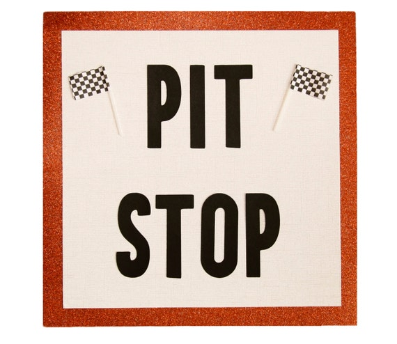 Items similar to pit stop bathroom party sign monster truck birthday