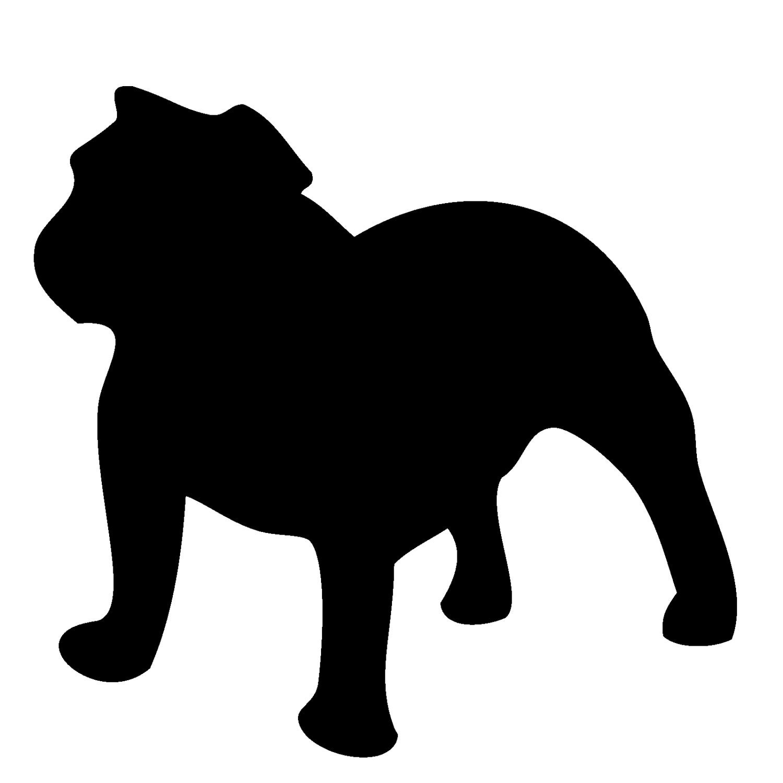 Bulldog silhouette pictures