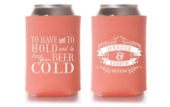 Wedding Favor Koozies To Have And To Hold Mini Bridal