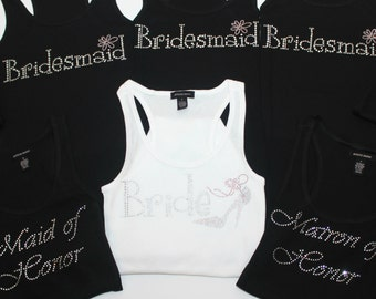 Bride Tank Top (5) Bridal Tank Top - Bridesmaid Tank Top -Maid of Honor Tank Top