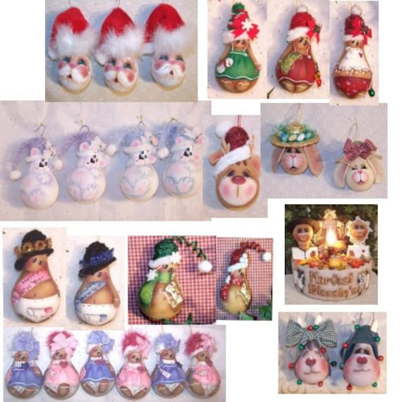 Holiday lightbulbs painting patterns collection of 10 for Best craft light reviews