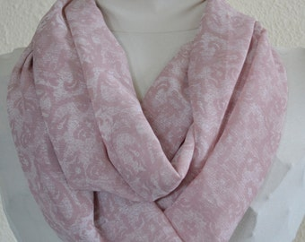 SALE Spring Infinity Scarf, Cowl Scarf, Light and Silky, Ready to Ship