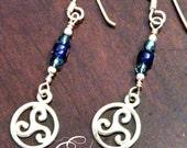 Sterling Silver Celtic Spiral Earrings