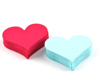 40 Die Cut Hearts. 2 Inch - Your Choice of Color(s)