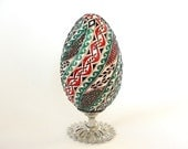 Red White and Green Romanian EGG