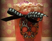 "10 oz.ODOR EATER Passion Soy ""Zombie Skull Rotten Cookie' Glitter Grubby Candle Unique Awesome Glitzy Holiday"