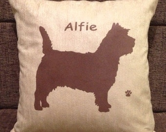 Personalised Cairn Terrier Dog Cushion