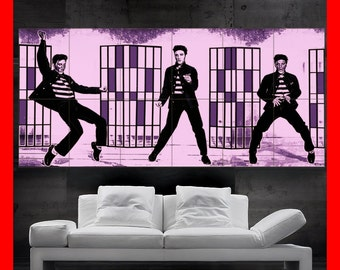 Elvis Presley THE King jailhouse rock Colorful  Poster print art  HH10505 S38