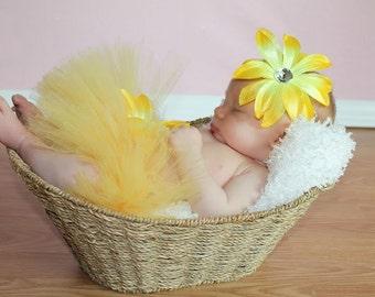 Yellow Newborn Tutu, Yellow Tutu, Girls Tutu, Baby Tutu, Toddler Tutu