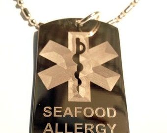 Dog Allergy Tag Etsy