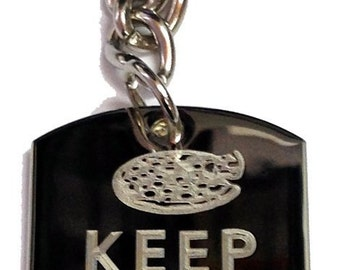Keep Calm and Eat Pizza - Metal Ring Key Chain EAT PIZZA