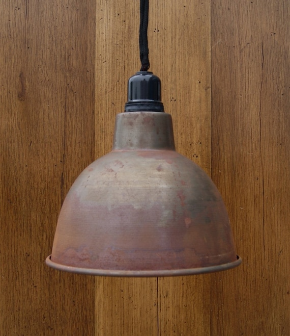 Cast iron hanging pendant lamp light vintage by for Industrial lamp kit