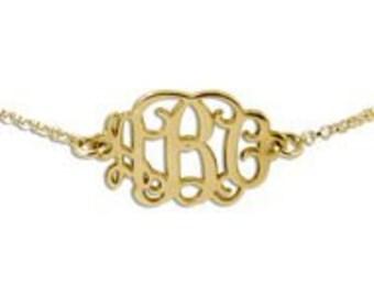 18K Gold Plated Monogrammed Bracelet