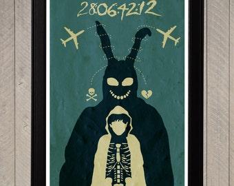 Donnie Darko Minimalist Poster, Movie Poster, Art Print