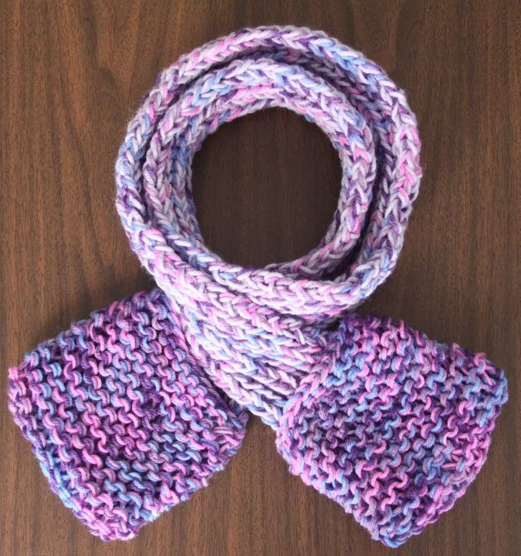 Handmade Scarfet Scarf with Pockets Lilac and Orchard Mist