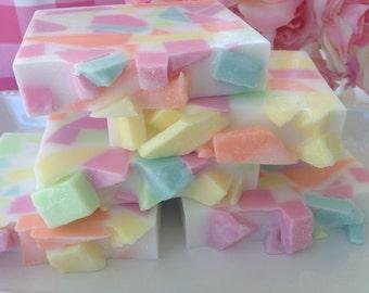 Spring Meadow Soap - Confetti Soap - Spring Meadow Confetti Soap - Pastel Confetti Soap - Floral Soap - Spring Soap - Handmade Glycerin Soap