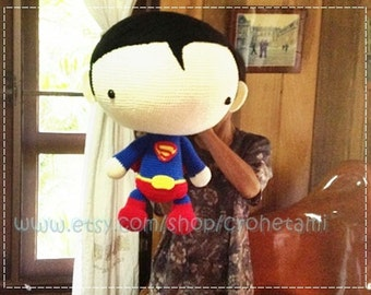 Superman 20inches PDF amigurumi crochet pattern