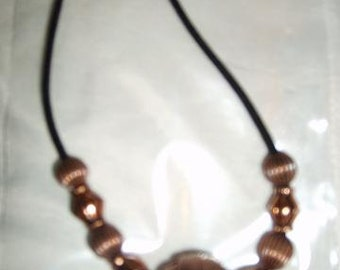 "Handmade Copper beaded 18"" necklace"