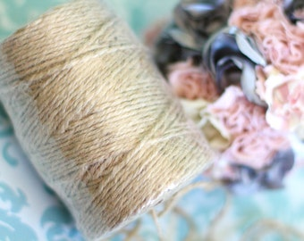 Jute Twine for Shabby Chic Weddings / Rustic Wedding Decorations / Wedding Supplies / Burlap Craft String for Tags & Labels / 3 ply 210 ft.