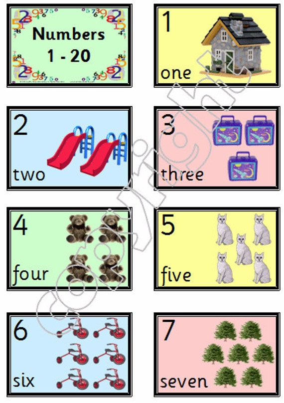 Gorgeous image throughout printable number cards 1-20