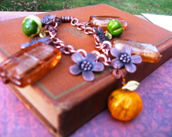 Pumpkin Charm Bracelet