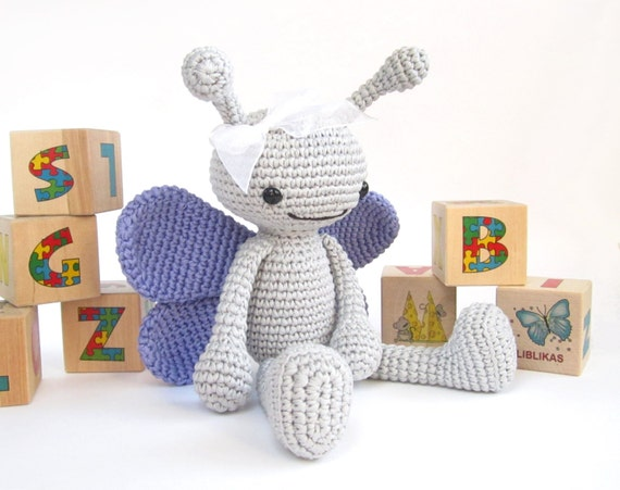 PATTERN: Butterfly - Long-legged insect - Cute toy butterfly - Amigurumi tutorial - Stuffed animal - EN-027