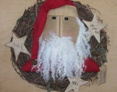 Santa wreath..  approximately 18 - 19 inches #5   READY TO SHIP