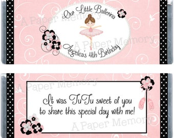 Ballerina Candy Wrapper - DIY Printable