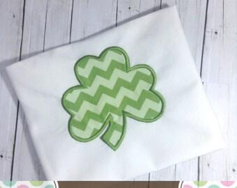 Shamrock Applique Design, Shamrock Machine Embroidery Applique, St. Patrick's Day Applique Design 4x4 5x7 6x10