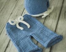 Baby Scrub Pant Set - PDF PATTERN - newborn baby toddler knit photo prop