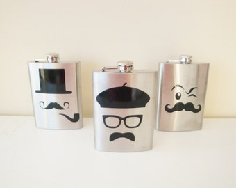 8 oz personalized flask customized just for you.  Many designs available